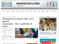 corriere.it minuti italiano non video serie