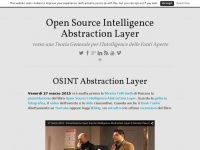 Open Source Intelligence Abstraction Layer | verso una Teoria Generale per l'Intelligence delle Fonti Aperte