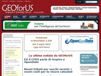 GEOforUS - Geography & Technology Network - Le ultime notizie da GEOforUS