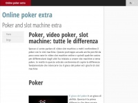 Online poker extra | Poker and slot machine extra