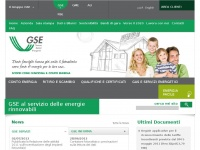 gse.it gas impianti energetici energia