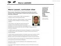 Marco Lazzari, homepage, didattica, pedagogia speciale, comunicazione ipermediale, informatica umanistica, tecnologie per l'educazione, comunicazione multimediale