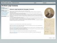 Luigi-cremona.it - Archivio Luigi Cremona
