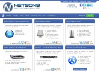 netsons.com hosting server domini cloud dedicati dominio tuo backup network managed