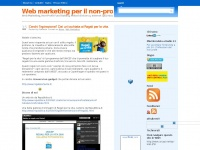 Coruzzi.net - Web marketing per il non-profit Web Marketing, Non-Profit Fund Raising, Motori di ricerca, Internet (più) sicuro