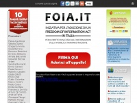 FOIA.IT - Iniziativa per l�adozione di un Freedom of Information Act in Italia