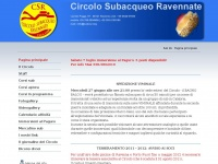 Circolo Subacqueo Ravennate - subcsr.org - Corsi sub Ravenna, relitto Paguro, Ravenna Sub, corsi apnea, tarawana, UISP Ravenna, Lega Sub - Pagina principale
