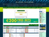 soccervista.com soccer odds results tables bet division betting