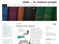 smile … it confuses people | (le mie letture)