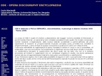 Carlomarinelli.it - ODE - Opera Discography Encyclopaedia