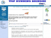 TOP RUNNING Brindisi: News