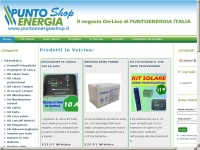 puntoenergiashop.it - Punto Energia Italia SRL, Energie Rinnovabili, Via T. Masselli 87 San Servero (FG)