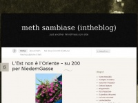 meth sambiase (intheblog) « Just another WordPress.com site