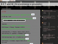 B E T and W I N scommesse e pronostici
