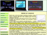 SITI WEB PRIMI SU INTERNET, Siti nelle PRIME PAGINEdi GOOGLE a basso costo - AGENZIA SEO - WEB TV
