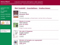 Anna Mioni - traduzioni letterarie dall'inglese  e dallo spagnolo - literary translations from English  and Spanish into Italian - traducciones literarias de  inglés y español al italiano