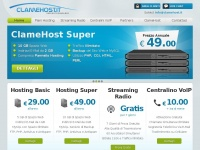 ClameHost.it - Servizi Hosting e Streaming Professionali