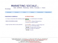 Marketing Sociale. Societa' di marketing sociale dedicata interamente  alle pubblicazioni di marketing sociale, marketing economico, marketing territoriale,  altri settori di marketing, leggi e giurisprudenza sulla pubblicita'. Index.